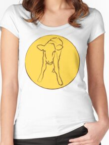 Cute Calf Women's Fitted Scoop T-Shirt