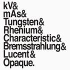 Radiology from-to Helvetica by Chur St. Churdom