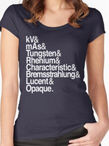 Radiology from-to Helvetica II Women's Fitted Scoop T-Shirt