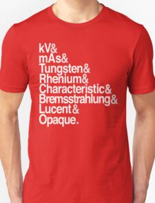 Radiology from-to Helvetica II Unisex T-Shirt