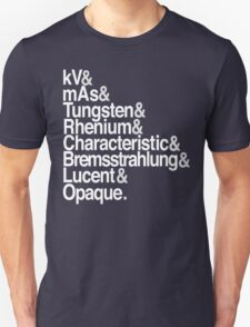 Radiology from-to Helvetica II T-Shirt