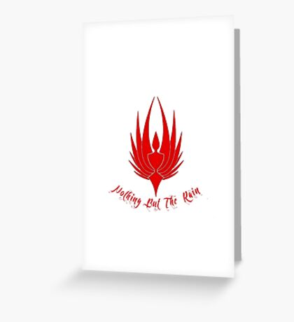 RED nothing but the rain Greeting Card