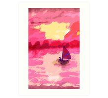 Sailing away, watercolor Art Print