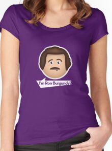 I'm Ron Burgundy? Women's Fitted Scoop T-Shirt
