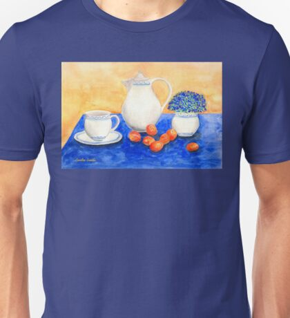 Still Life with Coffee Set and Nectarines Unisex T-Shirt