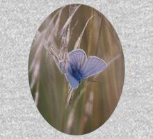 Blue Butterfly In field Kids Tee