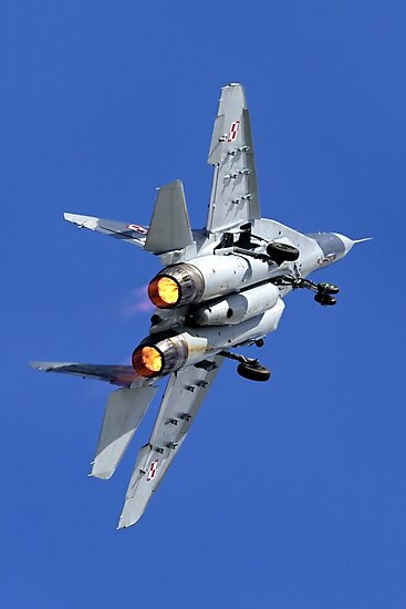 Polish Air Force Mikoyan Gurevich MiG-29A Fulcrum A, Red 111 by Andrew Harker