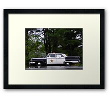 Mayberry Police Car? Framed Print