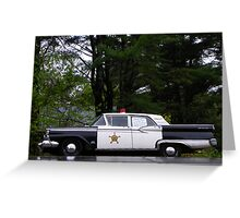 Mayberry Police Car? Greeting Card