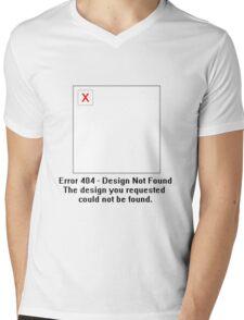 Error 404 - Design not Found Mens V-Neck T-Shirt