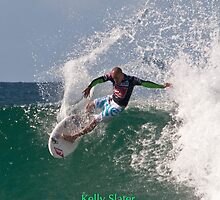Kelly Slater  - iPhone case by Odille Esmonde-Morgan
