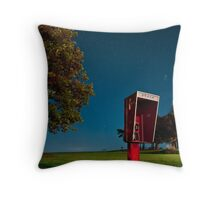 Starry Phone Booth Throw Pillow