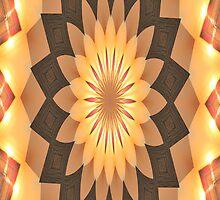 iPhone Case Orange Kalidescope Design by Rosalie Scanlon