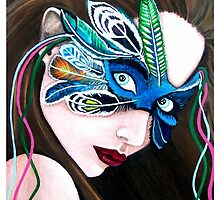 Feathered Masquerade by Sandra Gale