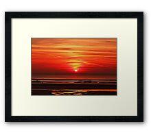 Wild red sky Framed Print