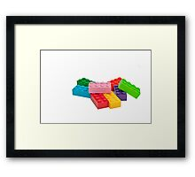 Plastic toys, building blocks. Framed Print