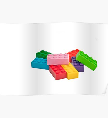 Plastic toys, building blocks. Poster