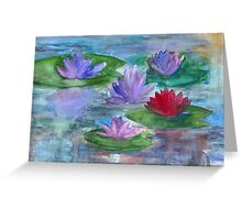 World of Water Lilies Greeting Card
