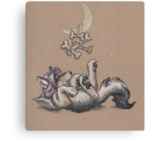 Baby WereWolf (with moon mobile) Canvas Print