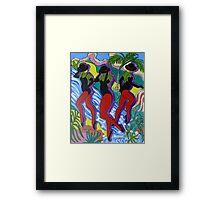 Dancing on the Falls # 2 Framed Print