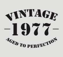 Vintage 1977 birthday  by personalized