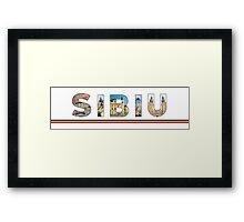 sibiu text Framed Print