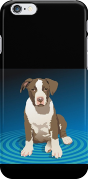 APBT Puppy - iPhone Case by Ginny York