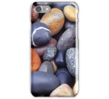 Close up of beach pebbles iPhone Case/Skin