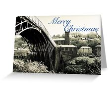 Merry Xmas Ironbridge Village Spring Snow Greeting Card
