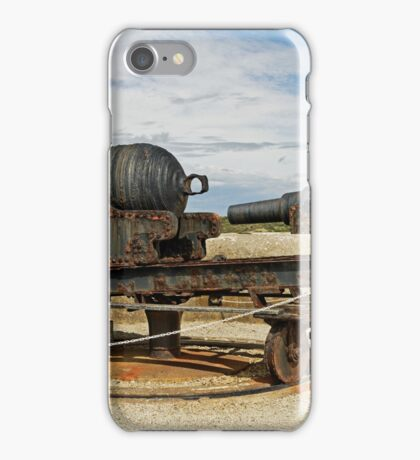 9 inch Guns at The Needles Old Battery iPhone Case/Skin