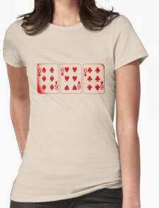 666 Cards - Red Womens Fitted T-Shirt