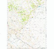 USGS Topo Map Oregon Folly Farm 282499 1974 62500 by wetdryvac