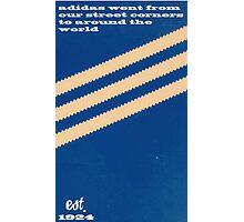Adidas Blue Stripe  Photographic Print