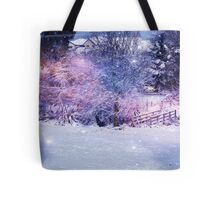 Magical Snow Scene  Tote Bag