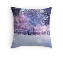 Magical Snow Scene  Throw Pillow