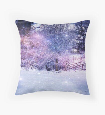 Magical Snow Scene  Throw Pillow