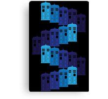 Shades of the Blue Box Tardis Canvas Print