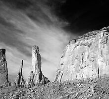 Three Sisters - Monument Valley Utah by Denise McDonald