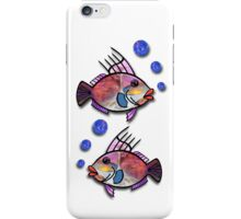 Fish with Bubbles iPhone Case/Skin