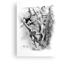 ANZAC Aussie Diggers WW2 drawing Canvas Print