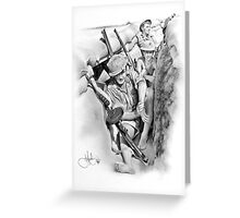 ANZAC Aussie Diggers WW2 drawing Greeting Card