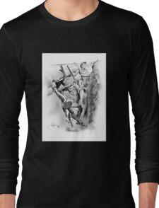 ANZAC Aussie Diggers WW2 drawing Long Sleeve T-Shirt