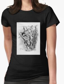 ANZAC Aussie Diggers WW2 drawing Womens Fitted T-Shirt
