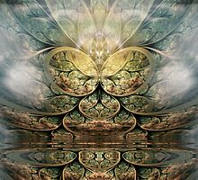 The Angel's Lake by Craig Hitchens - Spiritual Digital Art
