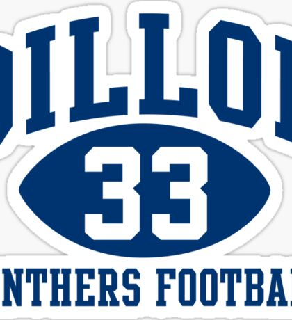 Dillon Panthers Football #33 Sticker