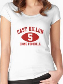 East Dillon Lions #5 Women's Fitted Scoop T-Shirt