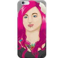 Pink Haired Girl iPhone Case/Skin