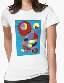 Abstract #40 Womens Fitted T-Shirt