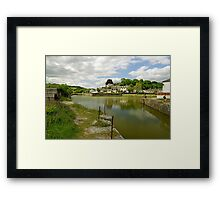 The Harbour With No Boats, Pentewan Framed Print