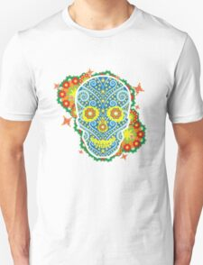skeleton flowers peace  T-Shirt